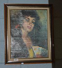 Collection of 3 retro prints of Spanish ladies,
