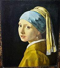 Nicely framed Johannes Vermeer print, 'Girl with