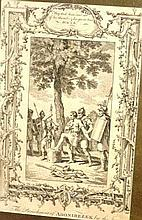 Antique engraving 'The punishment of Adonibezek by