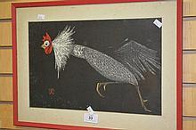 Artist unknown - oriental painting, stylised