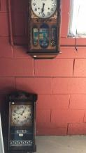 Two Korean wall clocks with Key and pendulums
