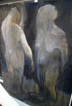 Benjamin Blake, 3 works, all oil on canvas, each showing figures in various poses, largest 173 x 132cm
