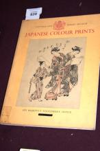 Book: 'Japanese Colour Prints' published by Victoria & Albert Museum, large number of illustrations, well detailed, printed by His Majesty's Stationery office 1952, with introduction by Arthur W. Ruffy