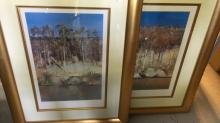 2 framed Arthur Boyd Shoalhaven art prints