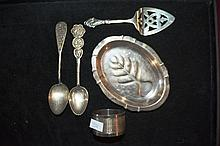 Collection of 5 pieces of sterling silver to incl.