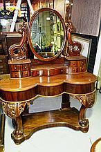 Victorian mahogany mirrored back dressing