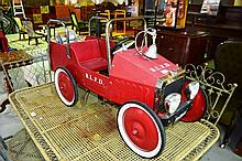 Vintage style child's pedal fire engine