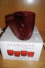 Boxed set of 4 Marquis by Waterford red