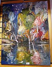 Eddi Jennings, 'Nightfall, Myall Lakes', oil on