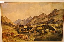 Artist unknown, 19th century Scottish landscape,