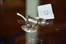 Small vintage Swedish silver model of a chicken