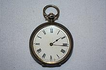 Antique sterling silver cased pocket watch,