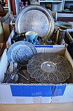 2 boxes: to incl. various EPNS ware, cake servers,
