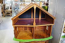 Vintage Scratchbuilt 2 tier timber dolls
