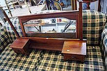 Mahogany Edwardian dressing table mirror