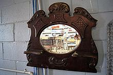 Edwardian mirror with trinket shelves