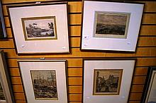 Collection of 4 antique engravings to include 'Shipping, Circular Quay', by Julian Ashton &  'King Street', both published 1886, 'Government  House' p
