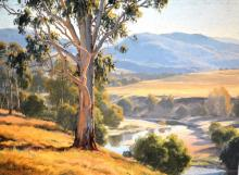 Melvyn Duffy (1930-), 'Five Day Creek', oil on