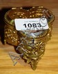 Vintage ring jar with bevel glass hinged lid &