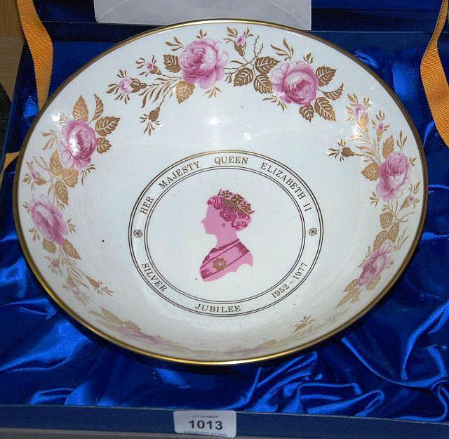 Coalport silver jubilee rose bowl lim/ed 191/500