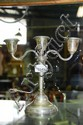 A sterling silver, 3 branch candelabra, made in