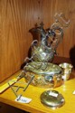 A small quantity of silverplate items incl. a