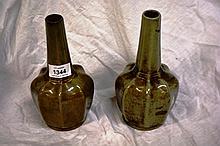 Pair of Chinese celadon glazed vases of