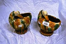 Pair of Chinese Tang style sancai glazed duck