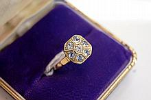 18ct yellow gold ring set with centre European