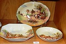 3 various Royal Doulton bowls, all various shapes, from the Rustic England series