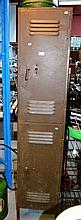 Vintage 2 door steel locker, 183cm H