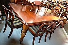 An antique kauri pine extension dining table, complete with 2 extension leaves, 209cm long fully  extended, 114cm wide