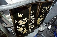 3 Chinese inlaid mother of pearl panels, each 92 x 30cm
