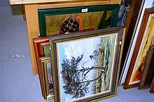 7 various original artworks, all oil paintings incl. antique examples etc. good collection, still  life, landscapes, various artists