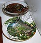 Five Royal Worcester display plates, lim/ed,