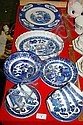 Quantity of Blue and White China including Willow