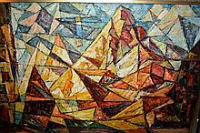 Victor Veinberg, abstract scene, signed & dated