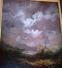 Carl Stringfellow, oil on board, 'Waterhole with