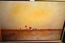 Eris Fleming, oil on masonite 'Sunrise - Baker's