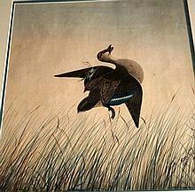 Neville Cayley, large scale watercolour, 'Shot