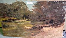 Patricia Johnston, oil on board, 'Water picnic',