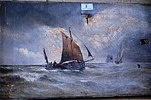 A. Lenthal Swifte, oil on canvas, 'Fishing Boats