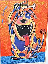 G. Dawson, lim/ed lithograph 'A dogs life just got