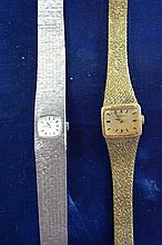 2 vintage ladies bracelet style wrist watches,