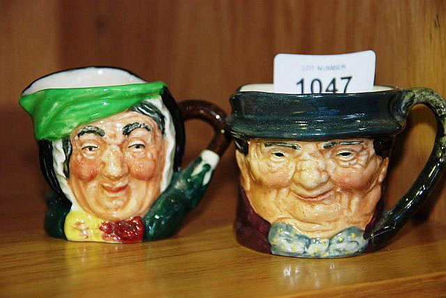 2 small Royal Doulton character jugs