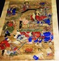 Chinese watercolour scroll with various mythical
