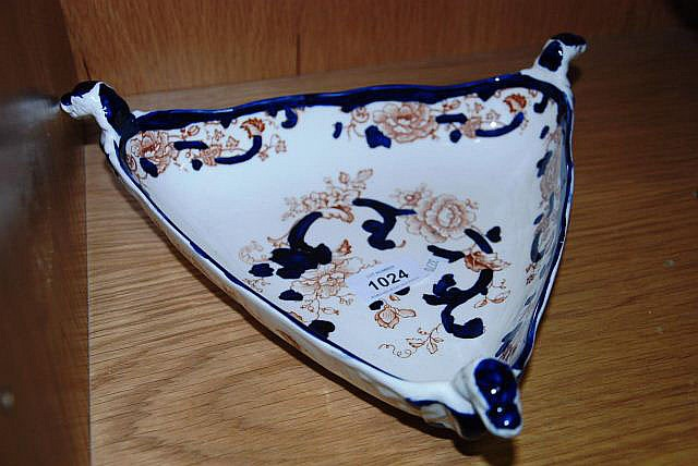 Mason's iron stone triangular serving dish
