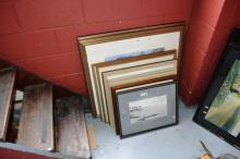 10 various artworks, framed behind glass incl.