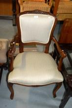 French style upholstered salon chair
