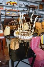 Pair of vintage boudoir chairs made by Kenstead